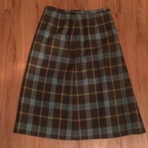 Vintage Inspired Pencil Plaid Skirt